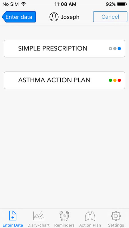 Asthmamd App An Asthma Diary Log For Patients And Their Healthcare