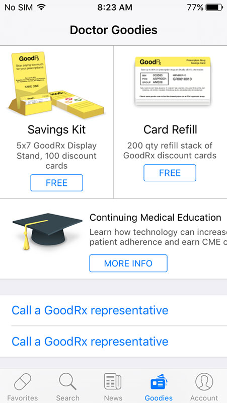 GoodRx for Doctors App, a drug price comparison app for ... Goodrx Coupons