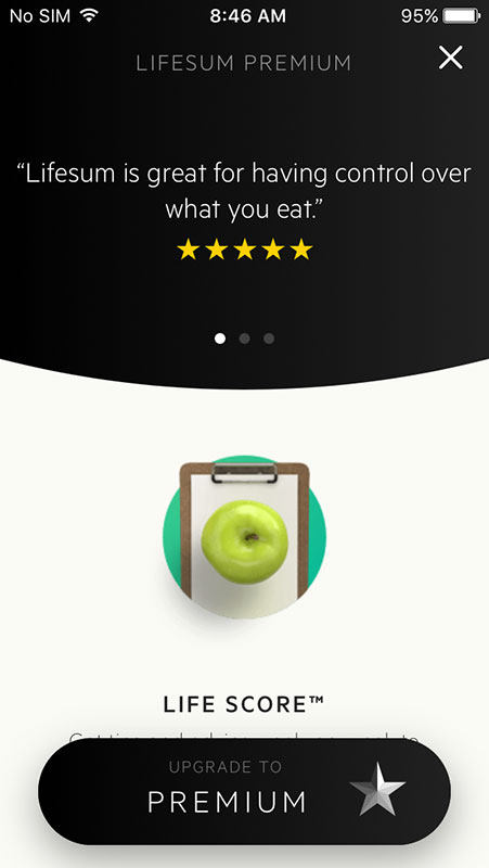 Lifesum App, a personalized health and lifestyle guide with calorie and activity tracker ...