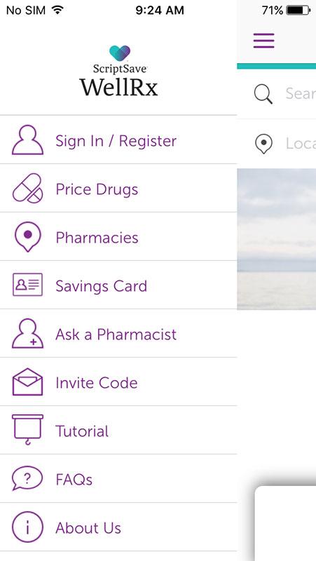 scriptsave wellrx app search for prescription savings and best