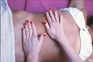 Deep tissue massage for muscle pain