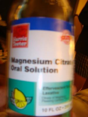 Magnesium citrate as laxative