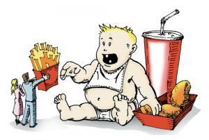 Obesity causes in babies